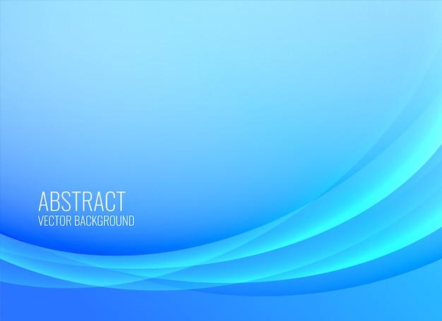 Abstrakte blaue wellenförmige hintergrundauslegung