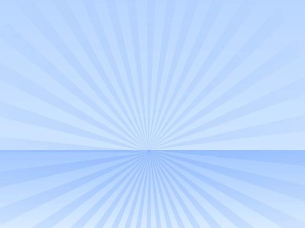Abstrakte blauen horizont strahl explosion vector
