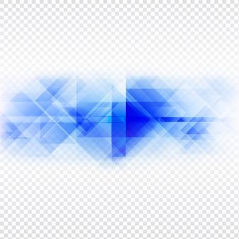 Abstrakte blaues polygon-design auf transprent hintergrund