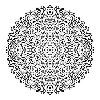Abstrakte blumen-mandala. dekoratives ethnisches element für design.
