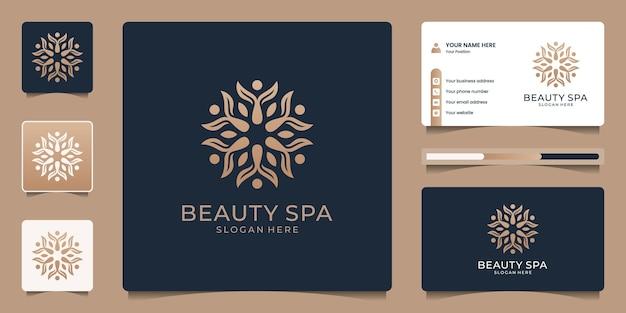Abstrakte blumenlogoschablone. luxus-branding-logo-design und visitenkarte.