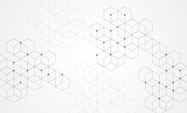 Abstrakte boxen hintergrund. moderne technologie mit quadratischem mesh
