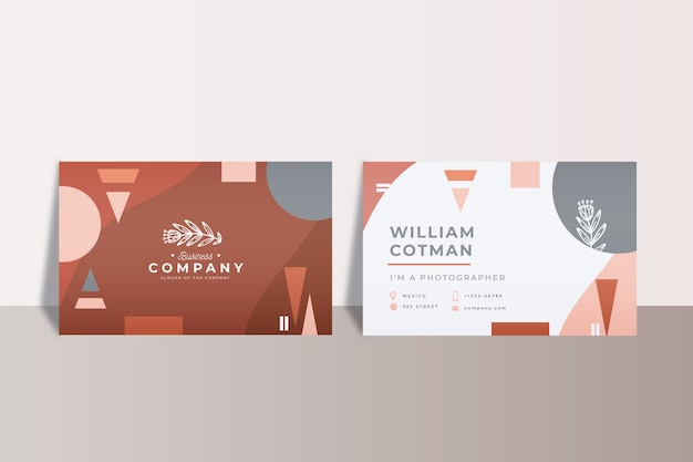 Abstrakte büro-visitenkarten