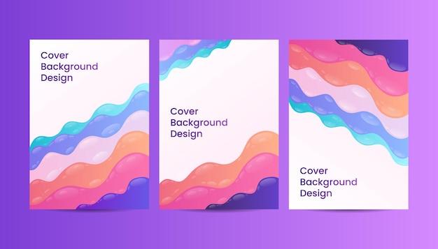 Abstrakte bunte farbverlauf flüssige flüssige abdeckung hintergrund-design-vorlagen.