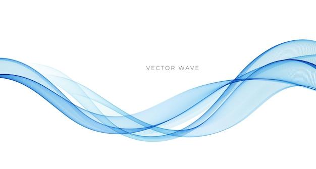 Abstrakte bunte fließende wellenlinien des vektors lokalisiert auf weißem hintergrundgestaltungselement