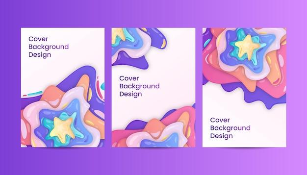 Abstrakte bunte flüssige abdeckung hintergrund-gradienten-design-vorlagen.
