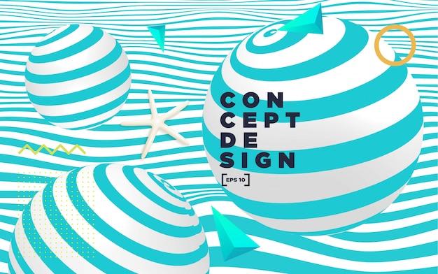 Abstrakte bunte hintergrundkomposition mit geometrischen elementen.
