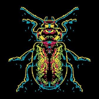 Abstrakte bunte käferillustration