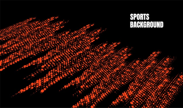 Abstrakte bunte kunst für sporthintergrund. dynamische partikel