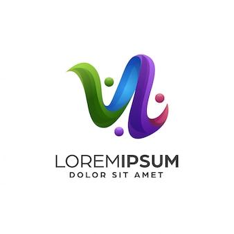 Abstrakte bunte logo-design-vorlage