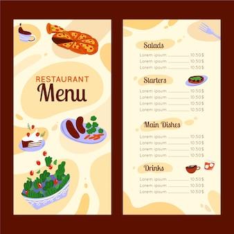 Abstrakte bunte restaurantkarte