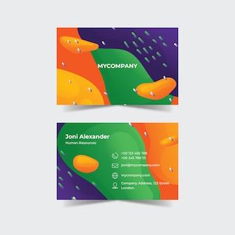 Abstrakte bunte visitenkarte
