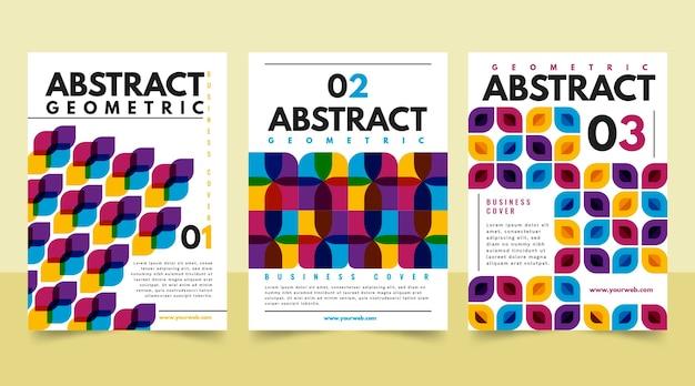 Abstrakte business-cover-sammlung