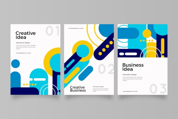 Abstrakte business-cover-sammlung