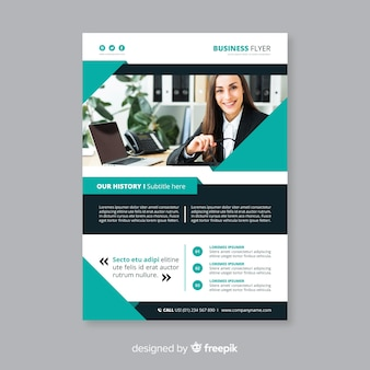 Abstrakte business-flyer-vorlage