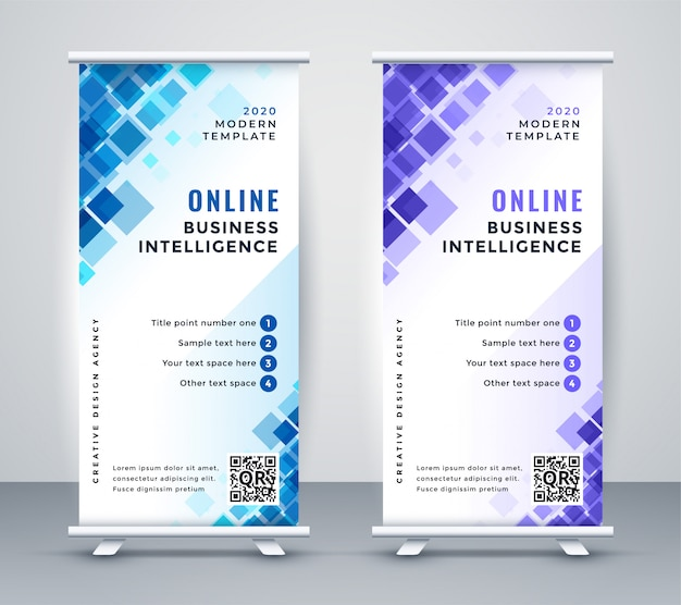 Abstrakte business rollup standee banner
