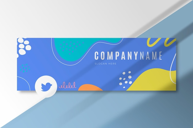Abstrakte business-twitter-cover-vorlage