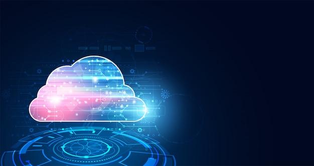Abstrakte cloud-technologie mit big data und connection