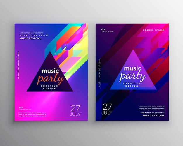 Abstrakte club musik party flyer vorlage design