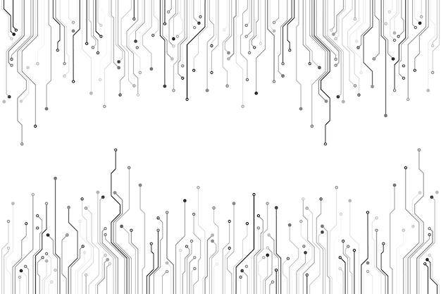 Abstrakte computertechnologie-leiterplattenillustration