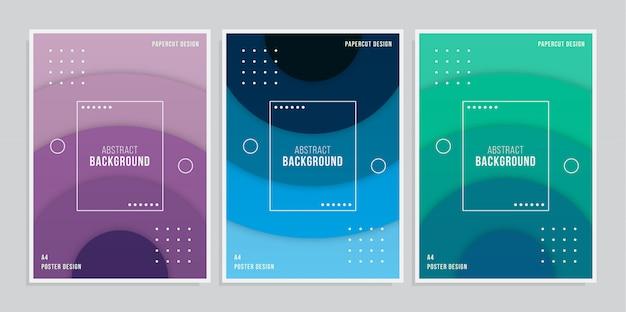 Abstrakte cover-design-sammlung