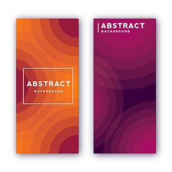 Abstrakte cover-design-vorlage. geometrischer gradientenhintergrund.