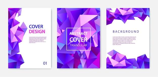 Abstrakte cover-vorlage mit design