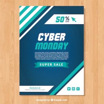 Abstrakte cyber montag broschüre