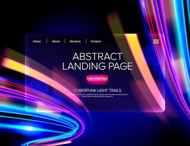 Abstrakte cyberpunk landing page