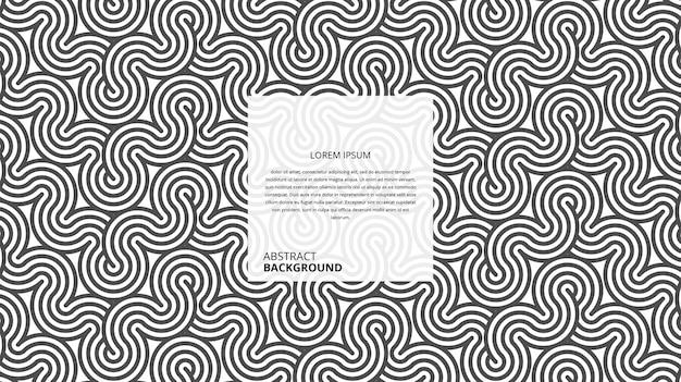 Abstrakte dekorative gewellte zickzackformlinien
