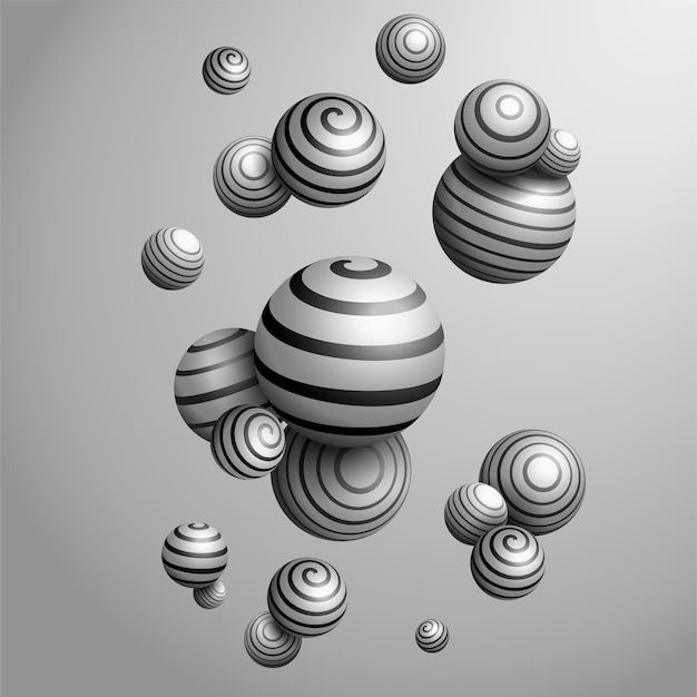 Abstrakte dekorative kugeln