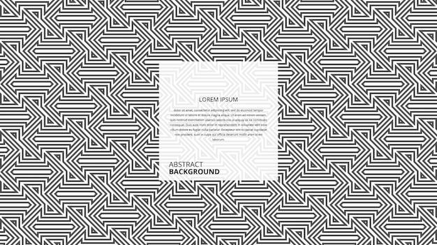 Abstrakte dekorative richtung form linienmuster