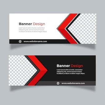 abstrakte design banner web-vorlage.