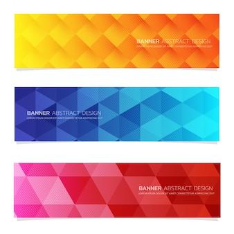 Abstrakte design banner webvorlage.