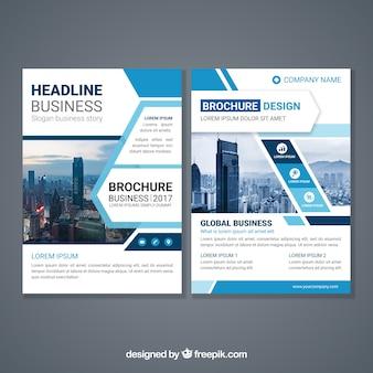 Abstrakte design broschüre vorlage