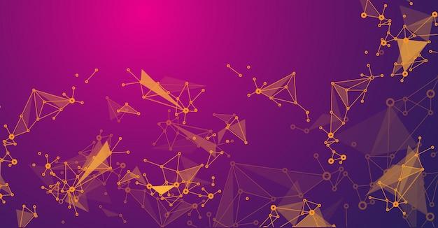 Abstrakte designkonzepttechnologie und vernetzungswissenschaft