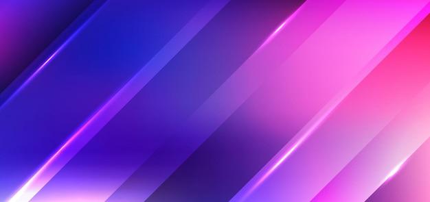 Abstrakte diagonale streifen mit hellblauem und rosa hintergrund