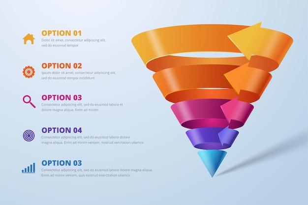 Abstrakte digitale 3d-illustration infografik