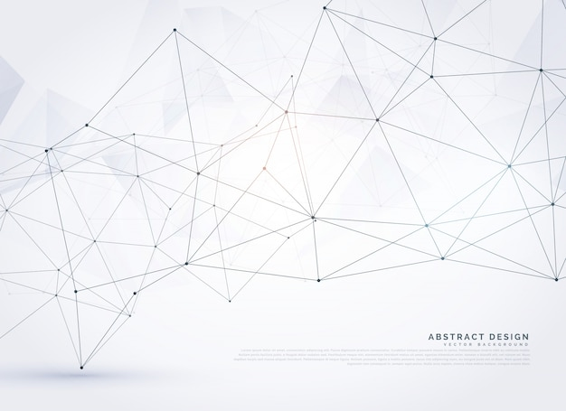 Abstrakte digitale drahtgitter poly mesh hintergrund design
