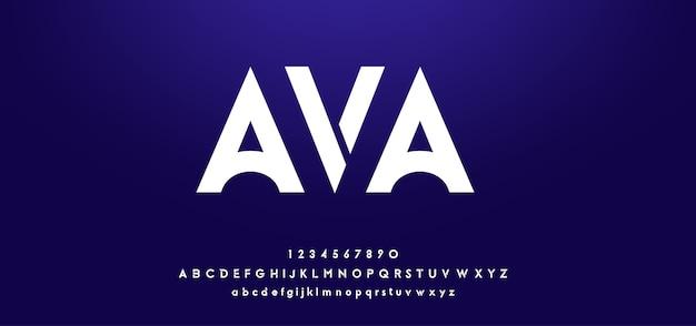 Abstrakte digitale futuristische moderne alphabetschriftarten
