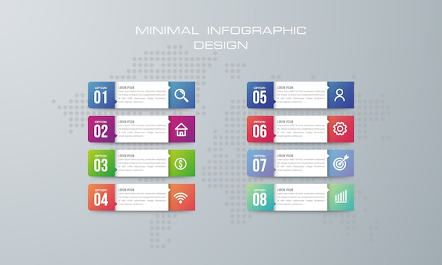 Abstrakte digitale illustration 3d infographic. wird für workflow-layout, diagramm und nummernoptionen verwendet