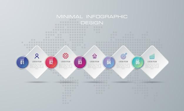 Abstrakte digitale illustration 3d infographic. wird für workflow-layout, diagramm und nummernoptionen verwendet