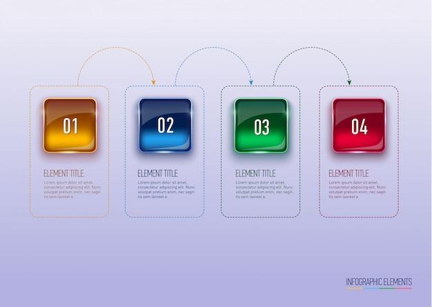 Abstrakte digitale illustration infografik.
