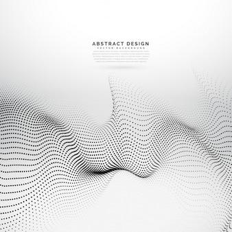 Abstrakte digitale partikel array drahtmodell hintergrund