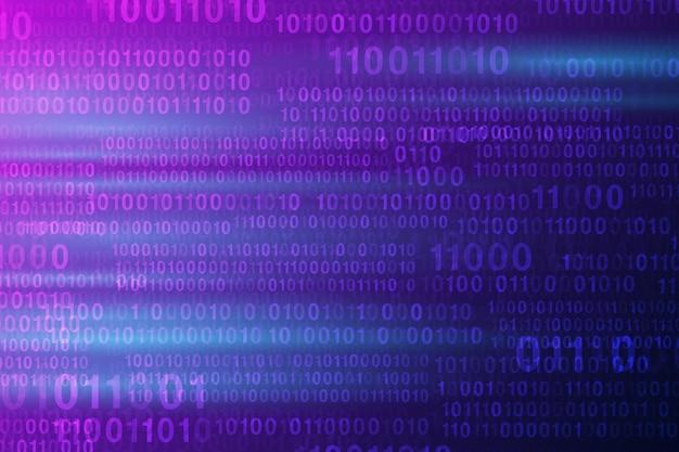 Abstrakte digitale zahlen hightech- technologischer blauer hintergrund. vektorillustration env 10.