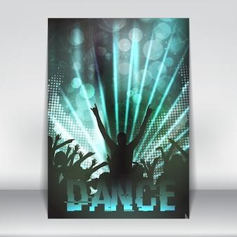 Abstrakte disco-party-plakat