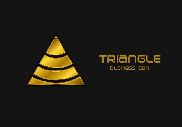 Abstrakte dreieckige logo-entwurfsvorlage