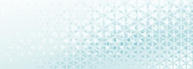 Abstrakte dreiecksmusterfahne mit blauem und weißem schatten