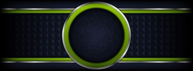Abstrakte dunkelblaue linie grüner technologiehintergrund