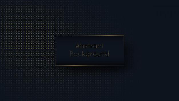Abstrakte dunkelblaue marine und goldener punktluxushintergrund